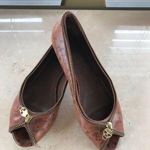 Alexander McQueen peep toe flats